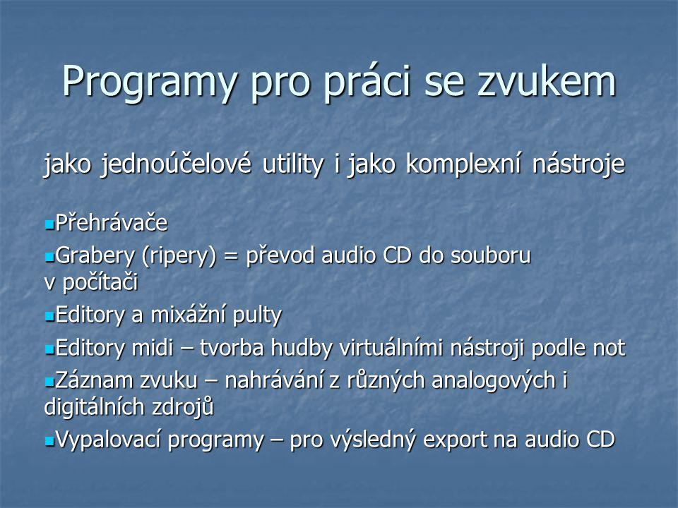 Programy pro práci se zvukem