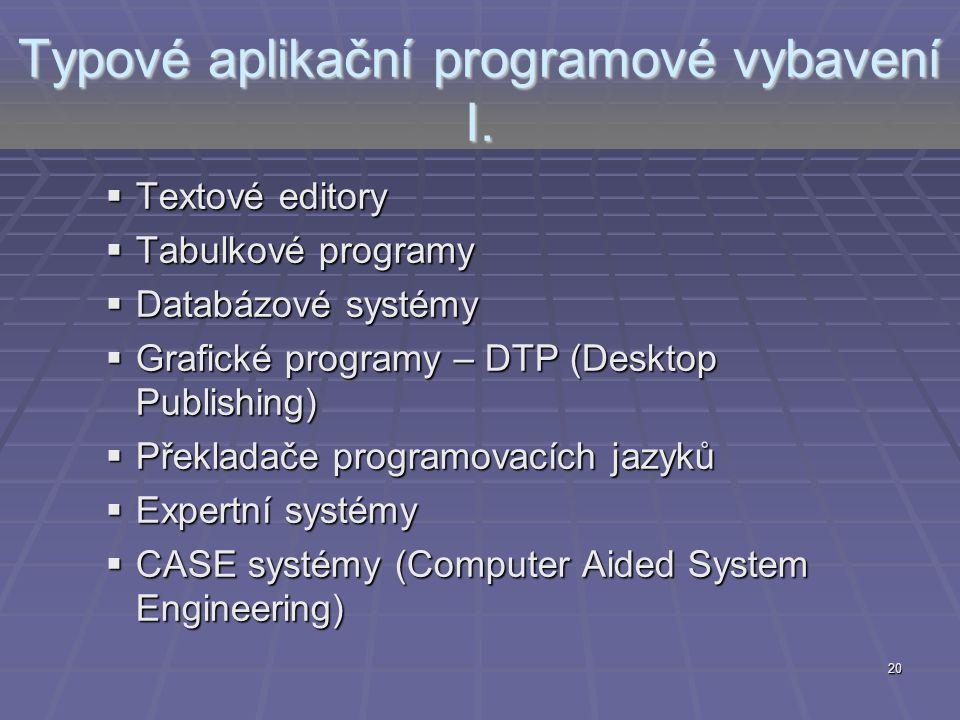Typové aplikační programové vybavení I.