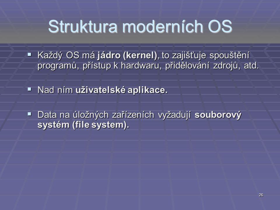Struktura moderních OS