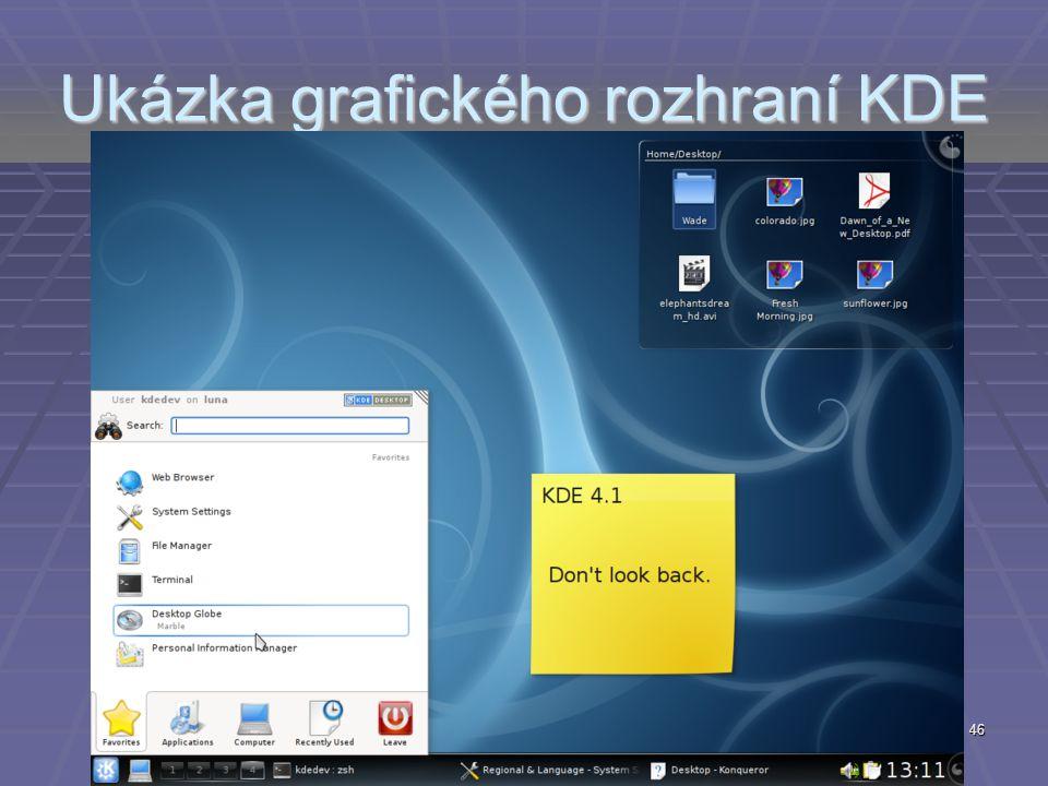 Ukázka grafického rozhraní KDE