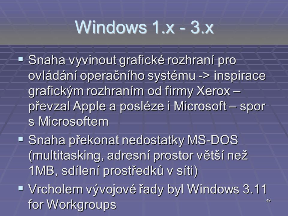 Windows 1.x - 3.x
