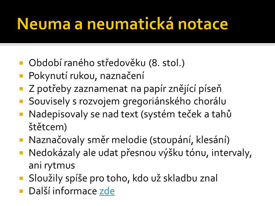 Neuma a neumatická notace
