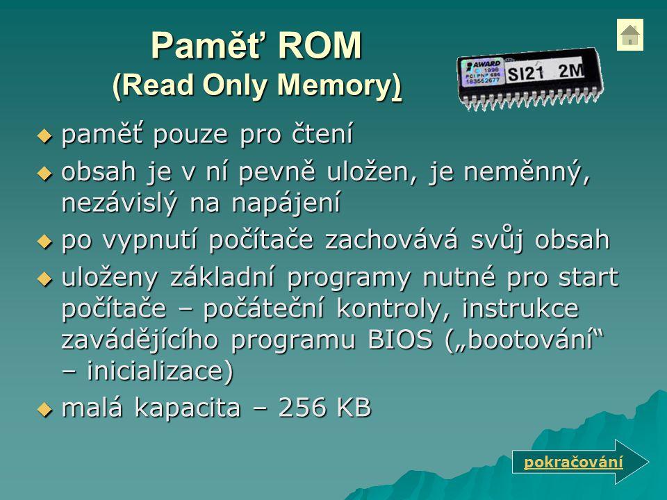 Paměť ROM (Read Only Memory)