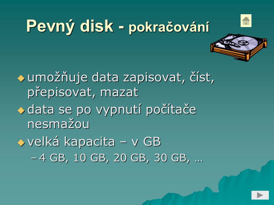 Pevný disk - pokračování