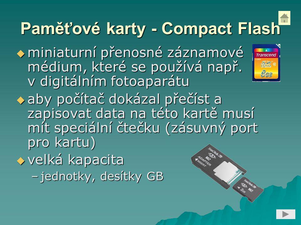 Paměťové karty - Compact Flash