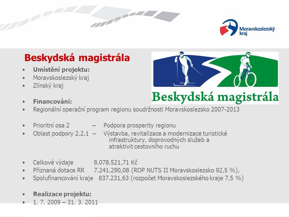 Beskydská magistrála Umístění projektu: Moravskoslezský kraj