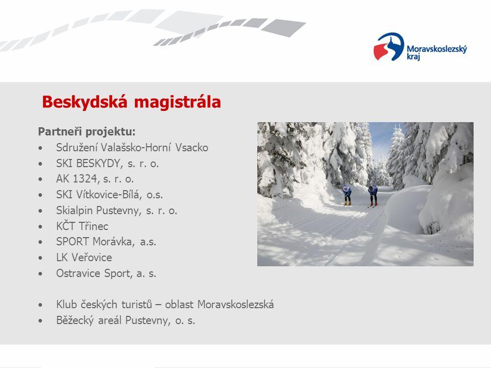 Beskydská magistrála Partneři projektu: Sdružení Valašsko-Horní Vsacko