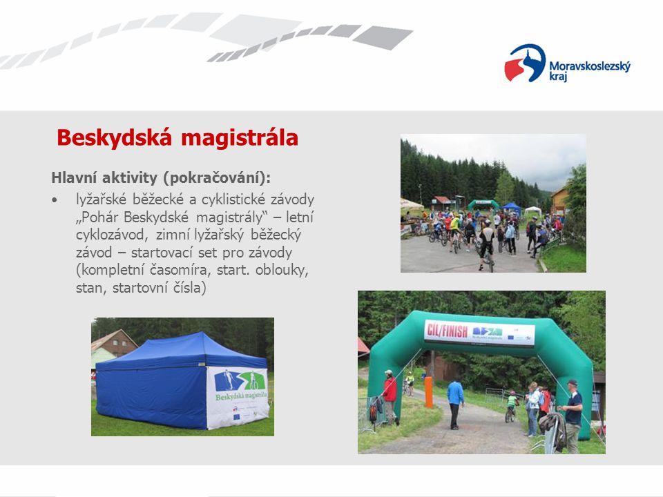 Beskydská magistrála Hlavní aktivity (pokračování):