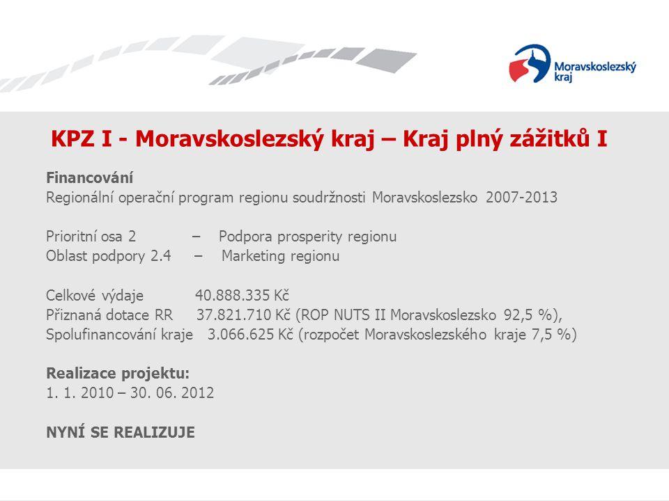 KPZ I - Moravskoslezský kraj – Kraj plný zážitků I