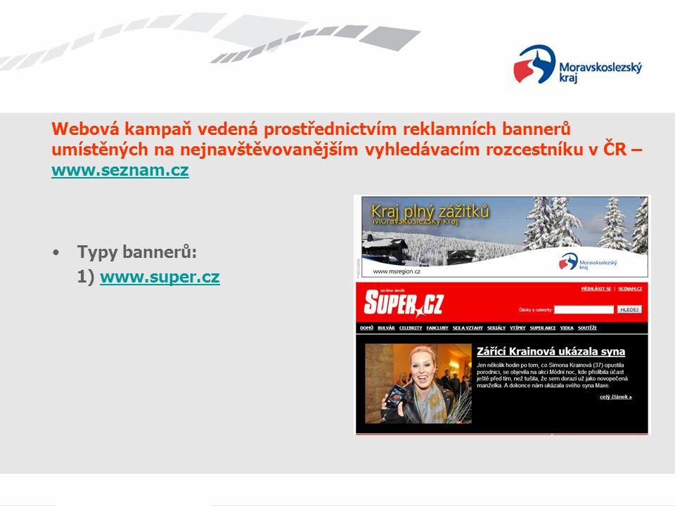 Webová kampaň vedená prostřednictvím reklamních bannerů umístěných na nejnavštěvovanějším vyhledávacím rozcestníku v ČR – www.seznam.cz