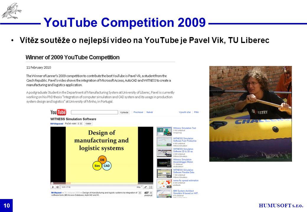 YouTube Competition 2009 Vítěz soutěže o nejlepší video na YouTube je Pavel Vik, TU Liberec