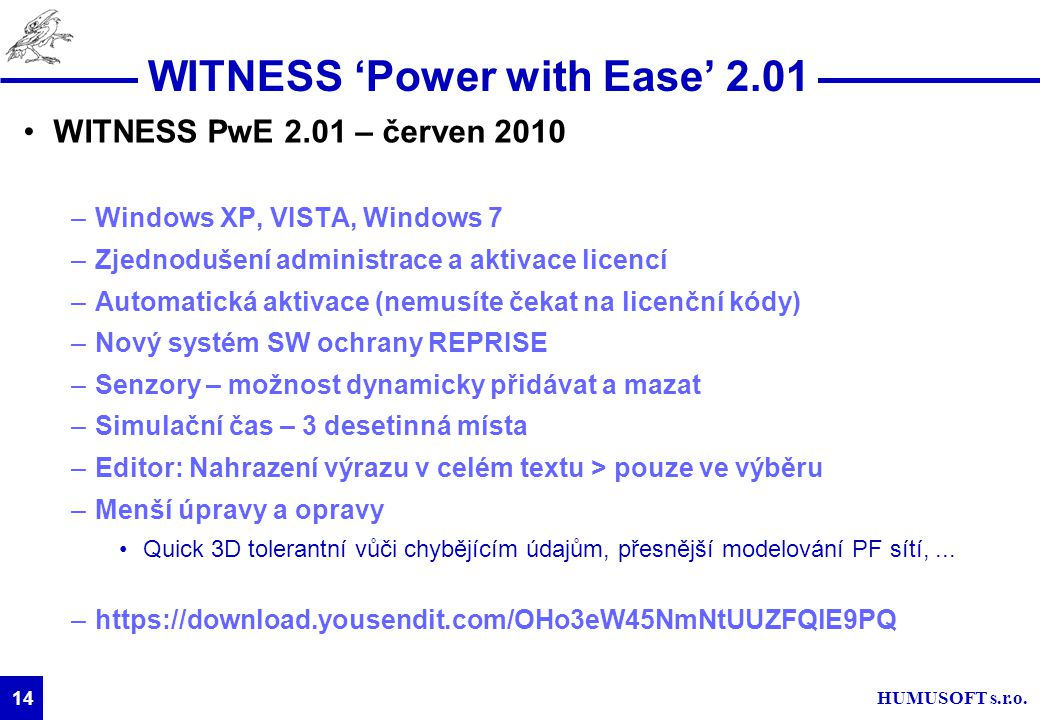 WITNESS 'Power with Ease' 2.01