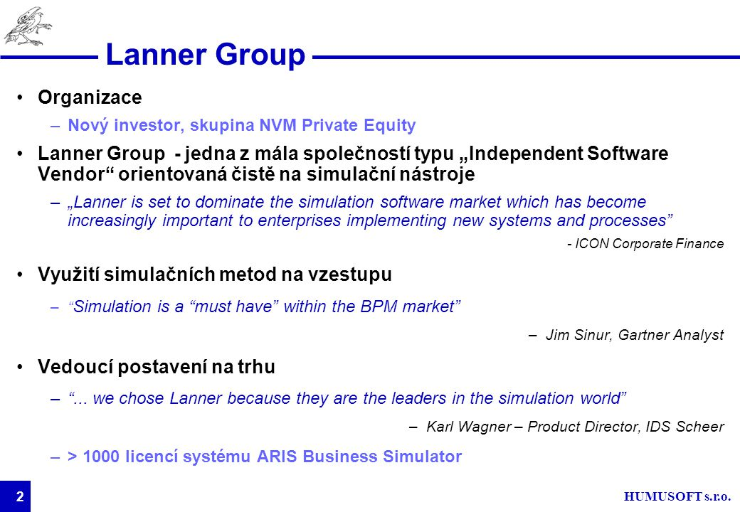 Lanner Group Organizace