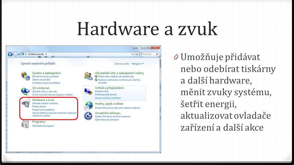 Hardware a zvuk