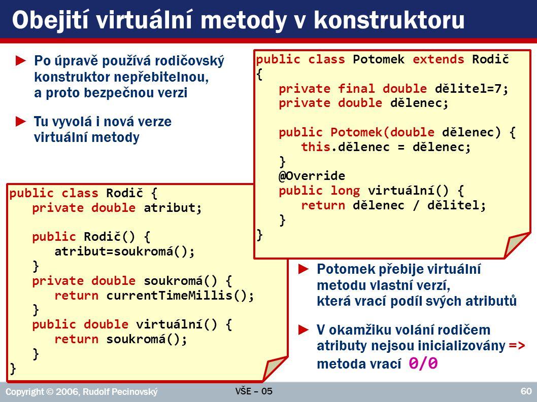 Obejití virtuální metody v konstruktoru
