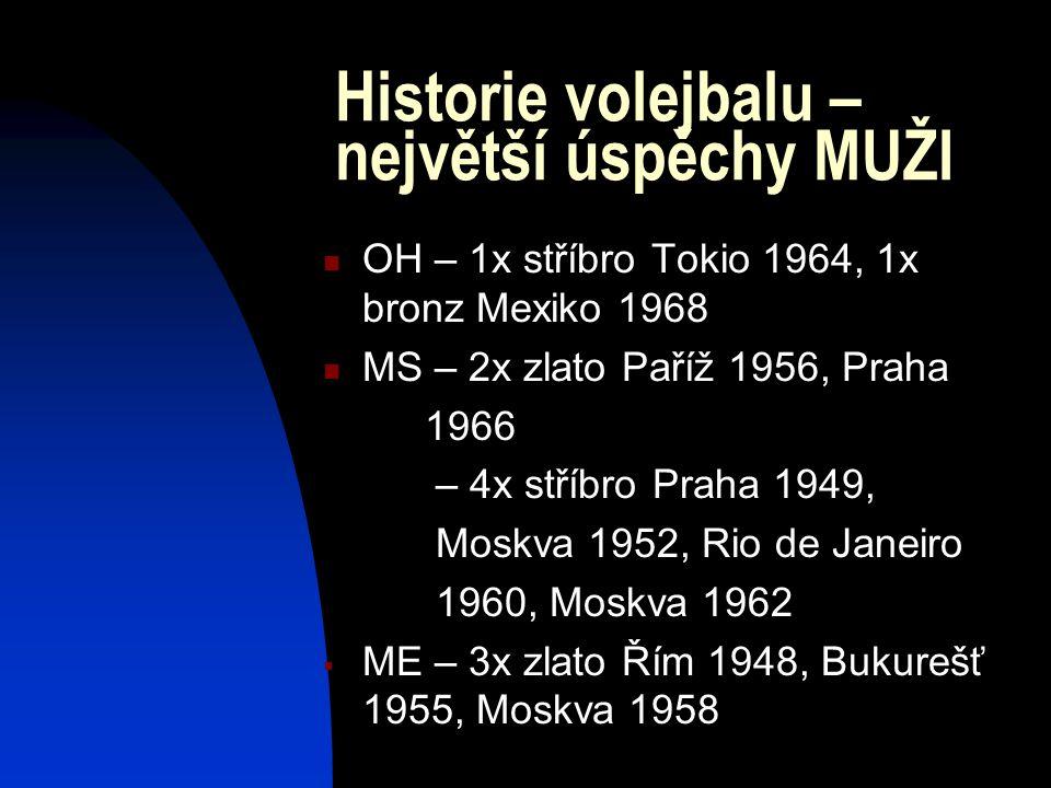 Historie volejbalu – největší úspěchy MUŽI