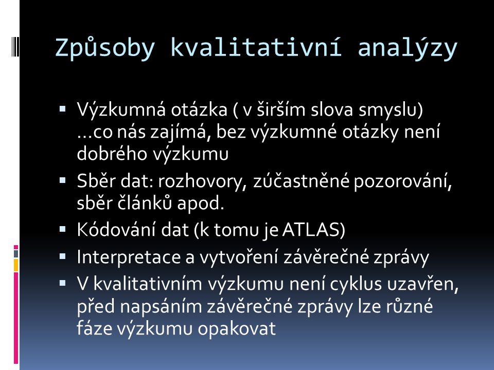 Způsoby kvalitativní analýzy