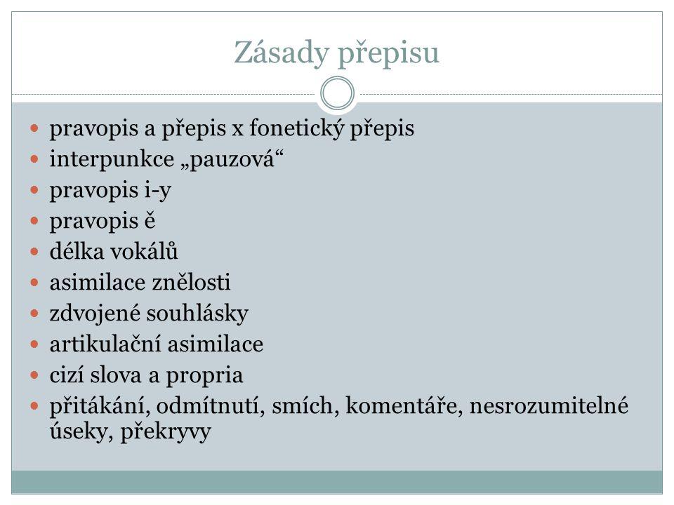 Zásady přepisu pravopis a přepis x fonetický přepis