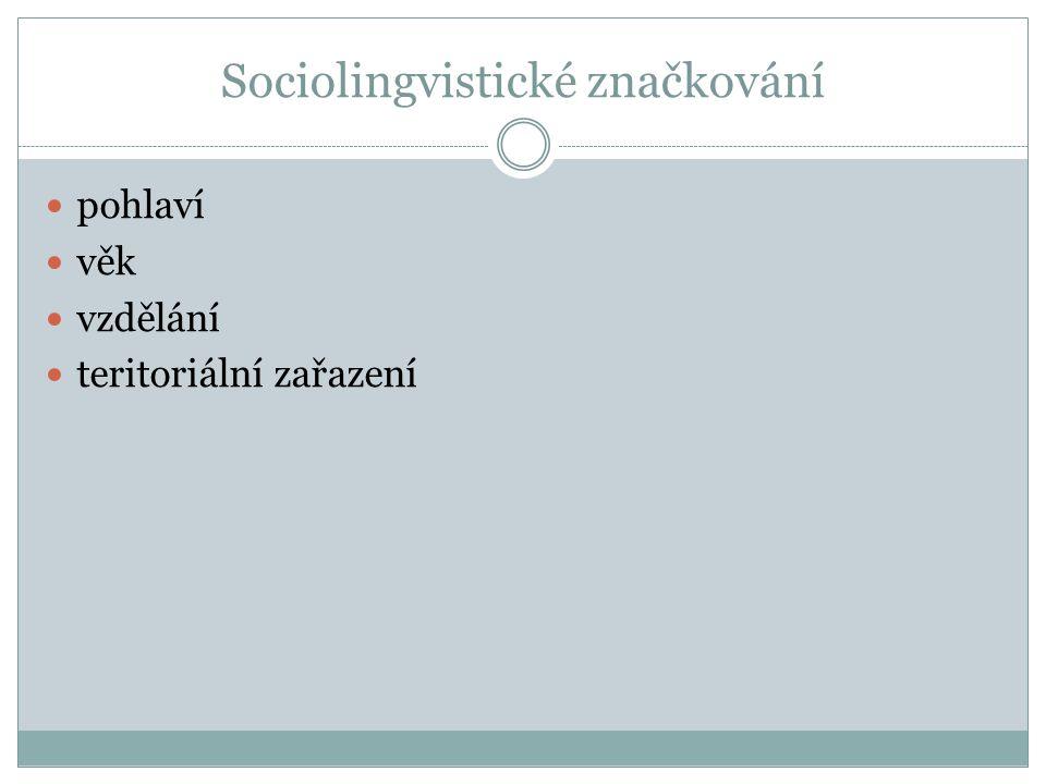 Sociolingvistické značkování