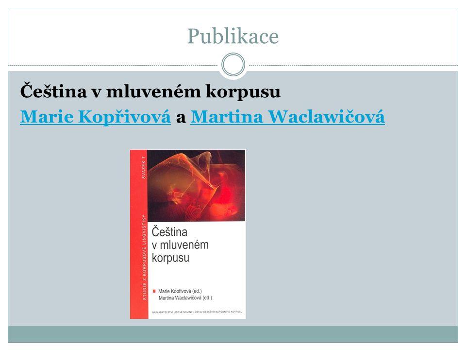 Publikace Čeština v mluveném korpusu