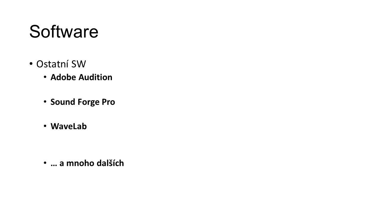 Software Ostatní SW Adobe Audition Sound Forge Pro WaveLab