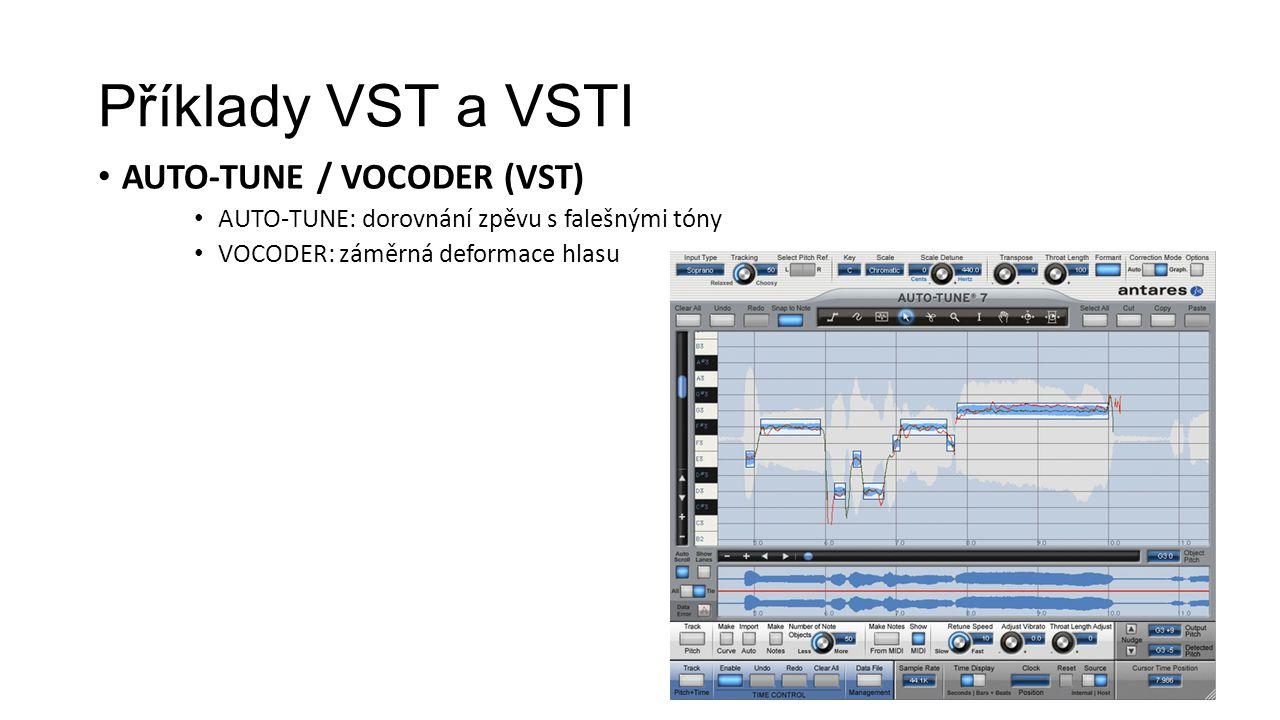 Příklady VST a VSTI Auto-Tune / Vocoder (vst)