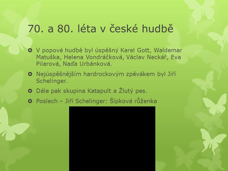 70. a 80. léta v české hudbě