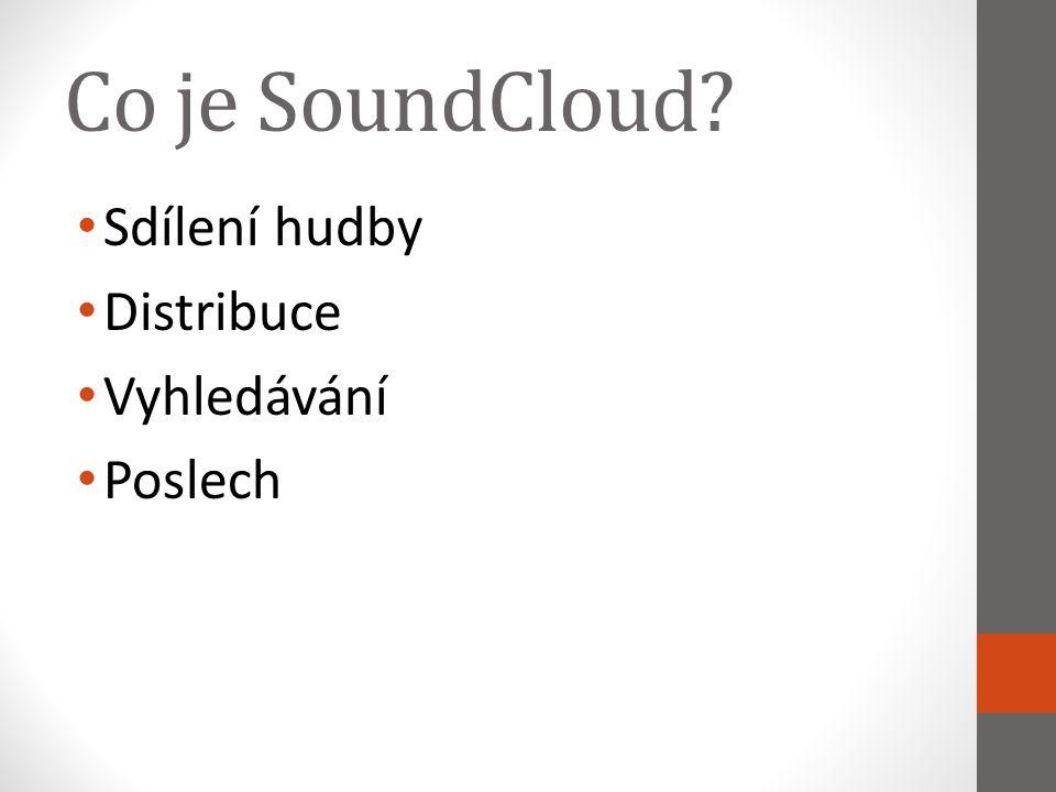 Co je SoundCloud Sdílení hudby Distribuce Vyhledávání Poslech