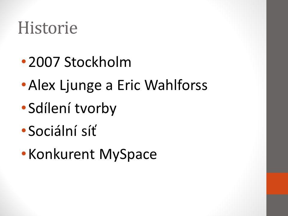 Historie 2007 Stockholm Alex Ljunge a Eric Wahlforss Sdílení tvorby