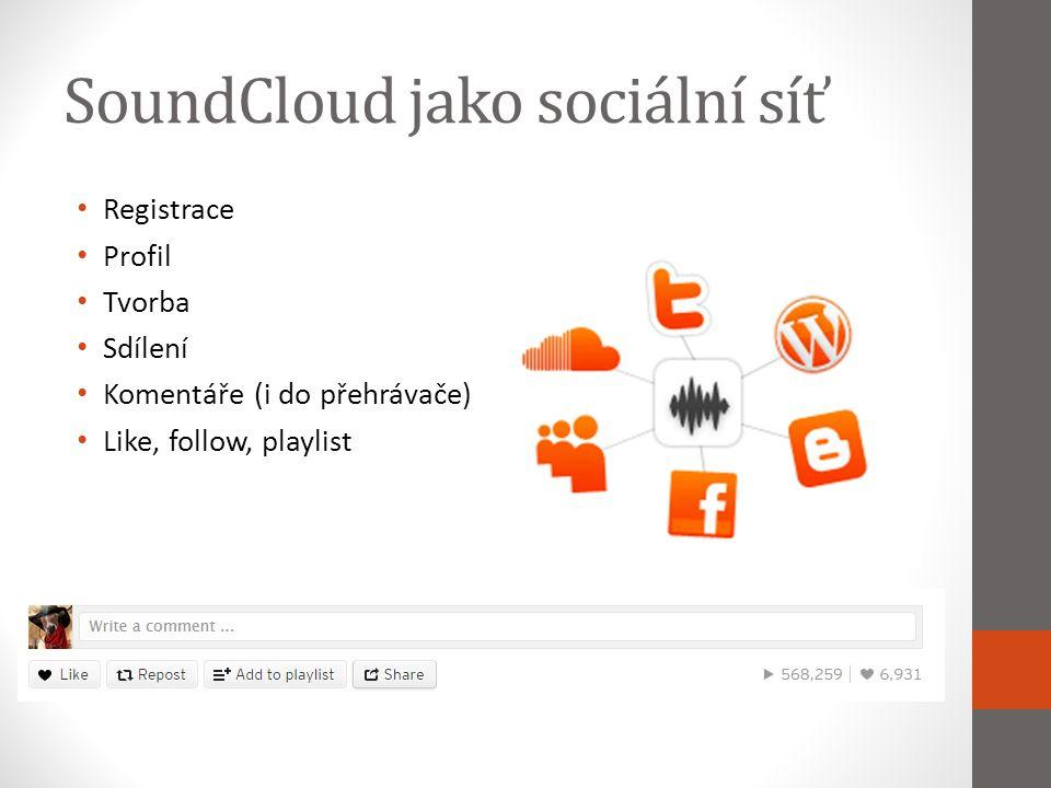 SoundCloud jako sociální síť