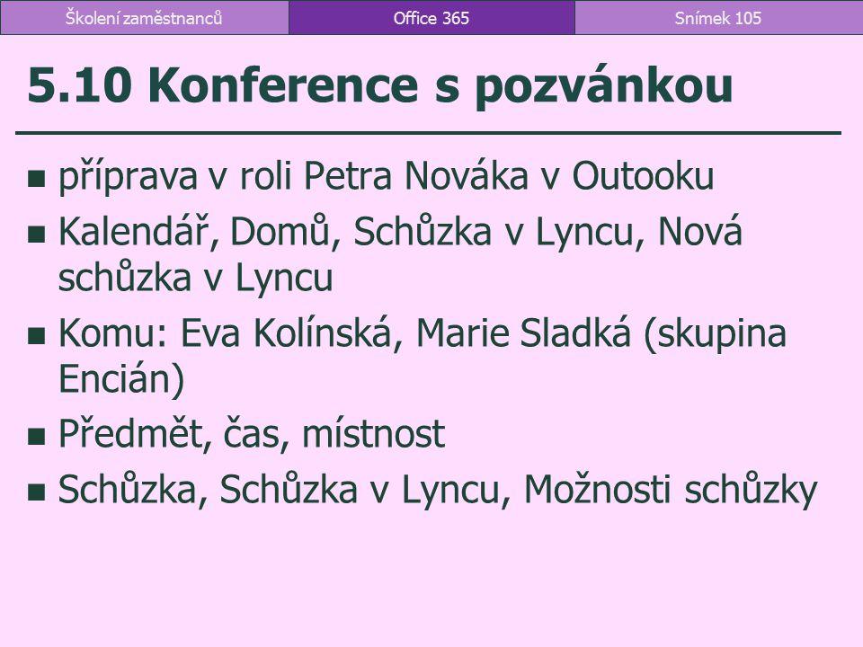 5.10 Konference s pozvánkou