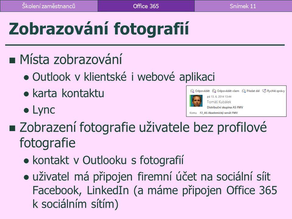 Zobrazování fotografií