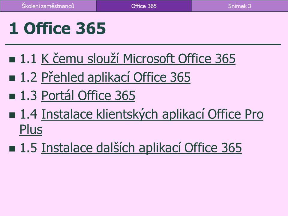 1 Office 365 1.1 K čemu slouží Microsoft Office 365