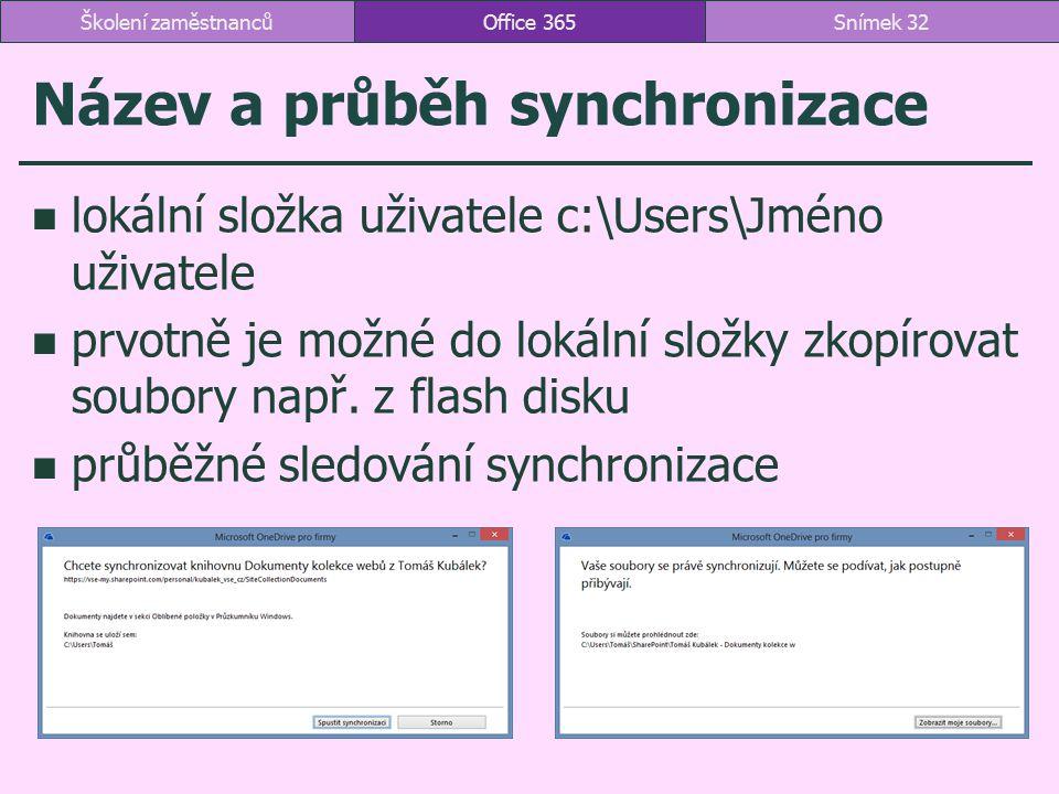 Název a průběh synchronizace