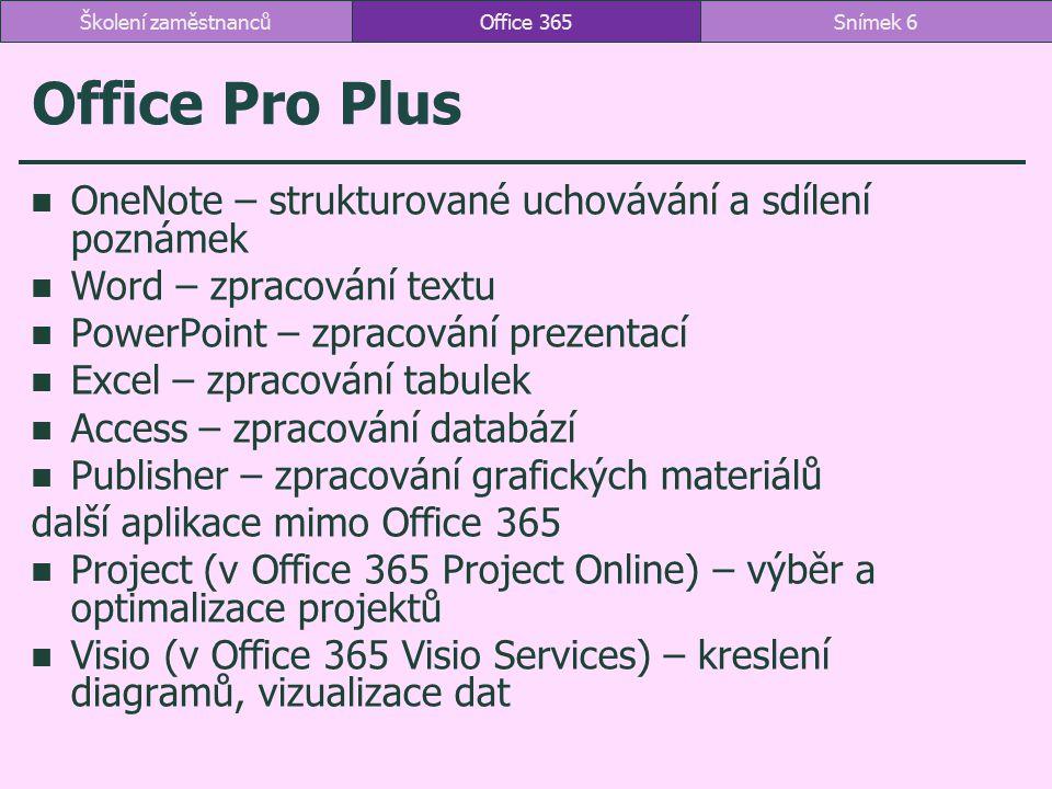 Office Pro Plus OneNote – strukturované uchovávání a sdílení poznámek