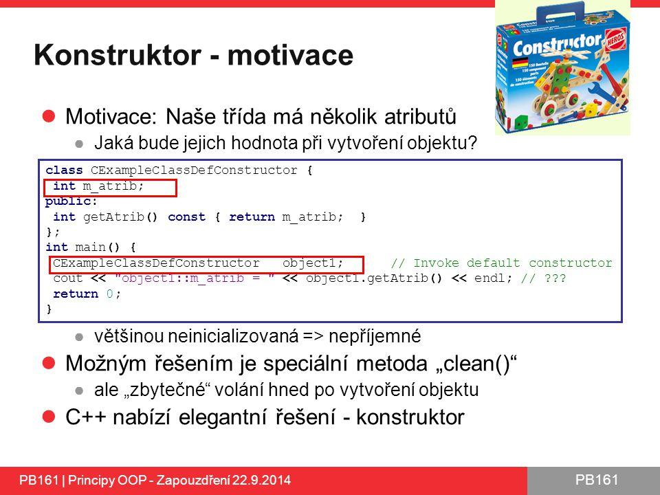Konstruktor - motivace