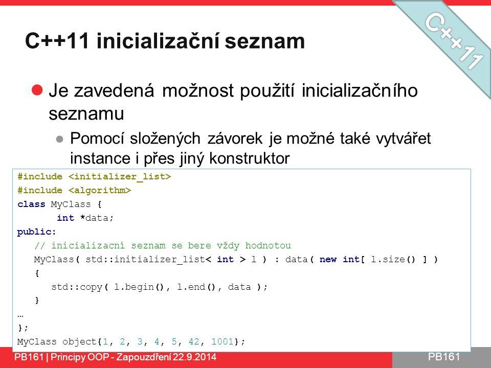 C++11 inicializační seznam