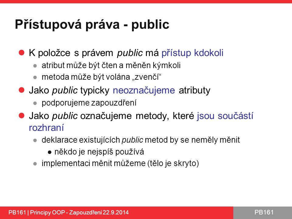Přístupová práva - public