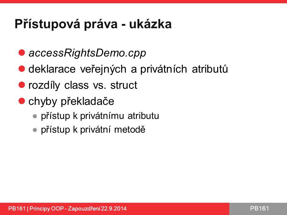 Přístupová práva - ukázka