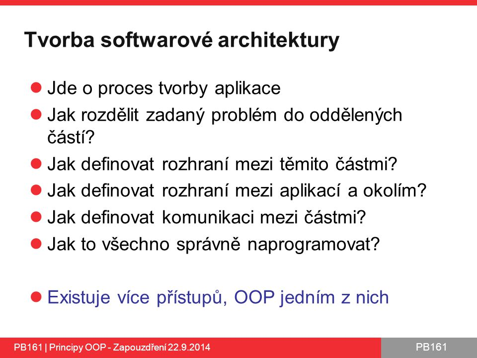 Tvorba softwarové architektury