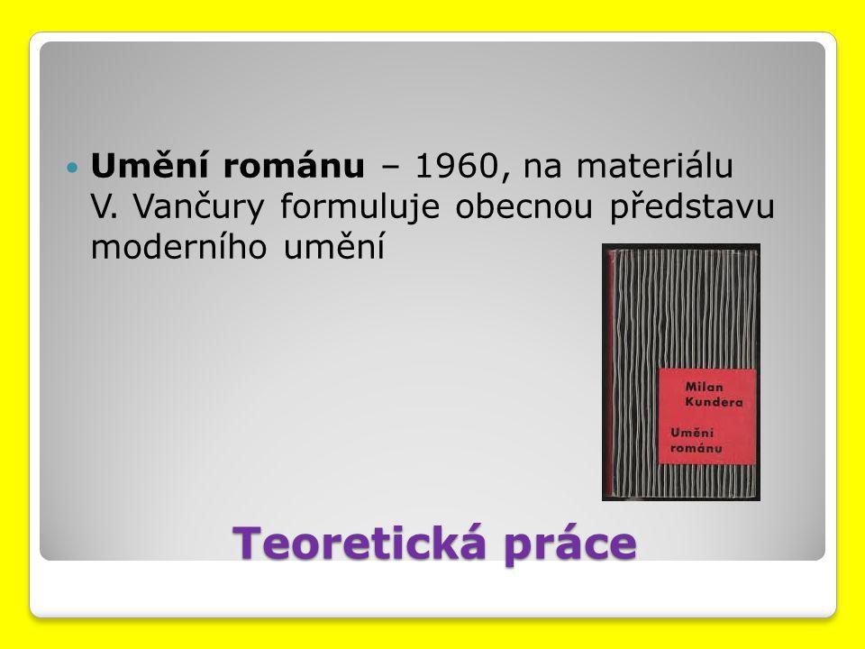 Umění románu – 1960, na materiálu V