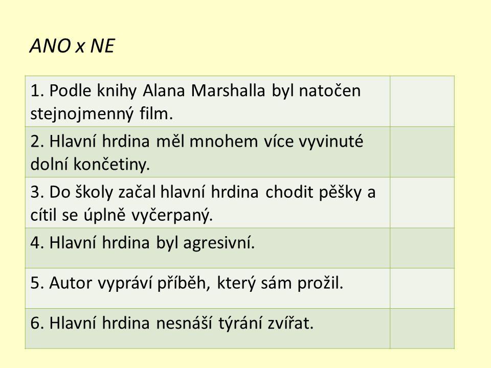 ANO x NE 1. Podle knihy Alana Marshalla byl natočen stejnojmenný film.