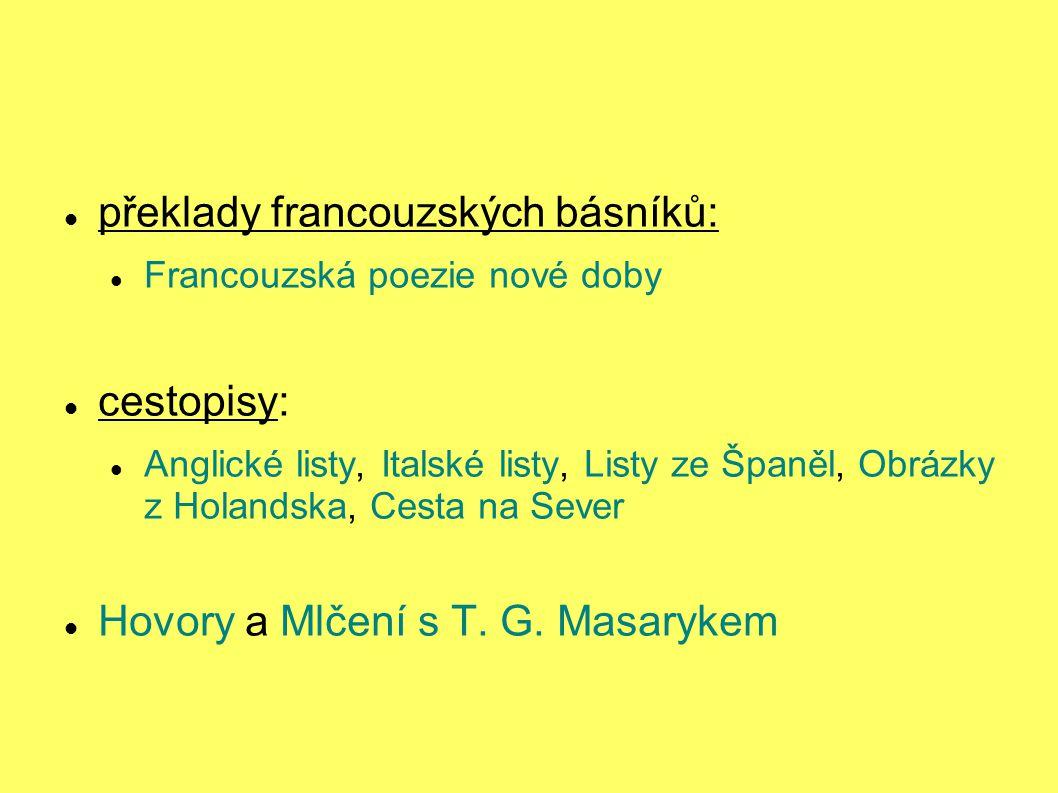překlady francouzských básníků: