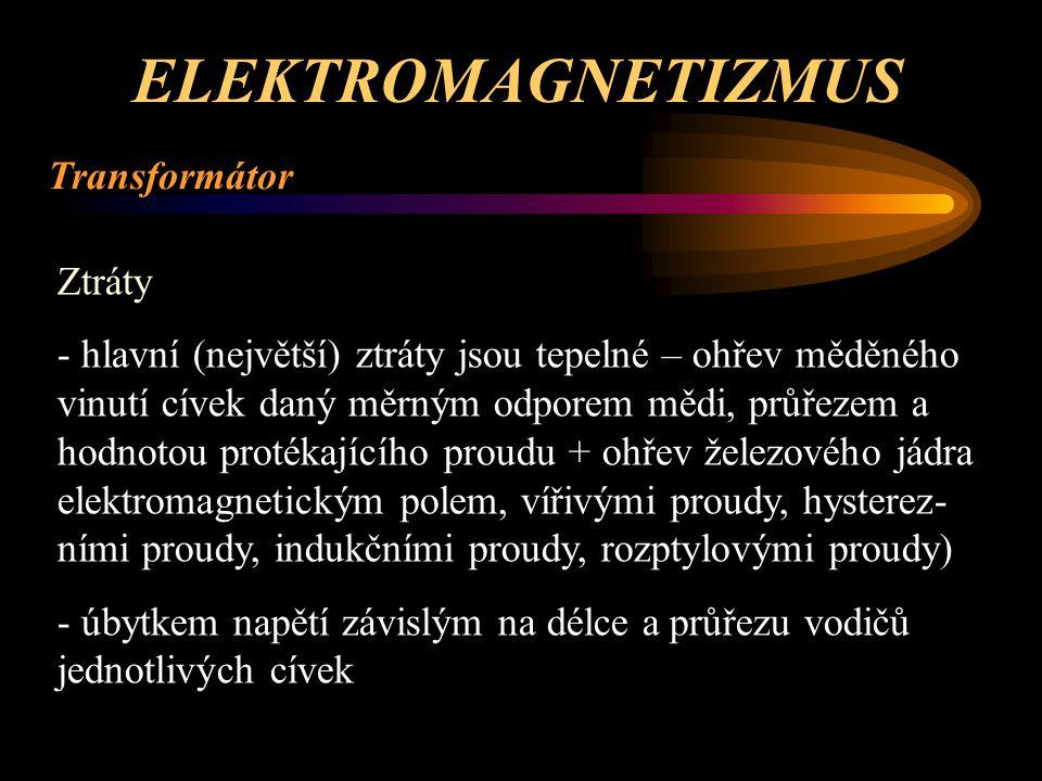 ELEKTROMAGNETIZMUS Transformátor Ztráty