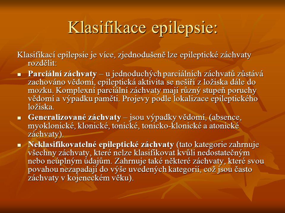 Klasifikace epilepsie: