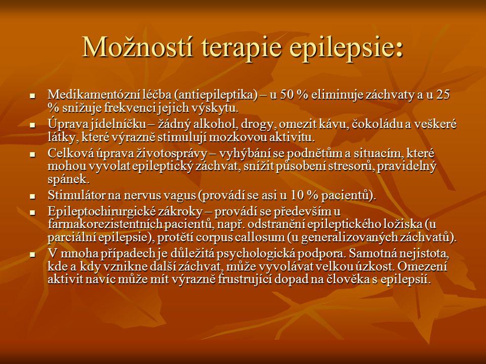 Možností terapie epilepsie: