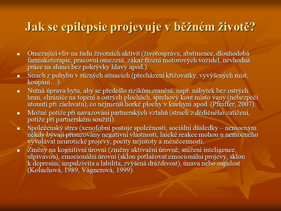 Jak se epilepsie projevuje v běžném životě