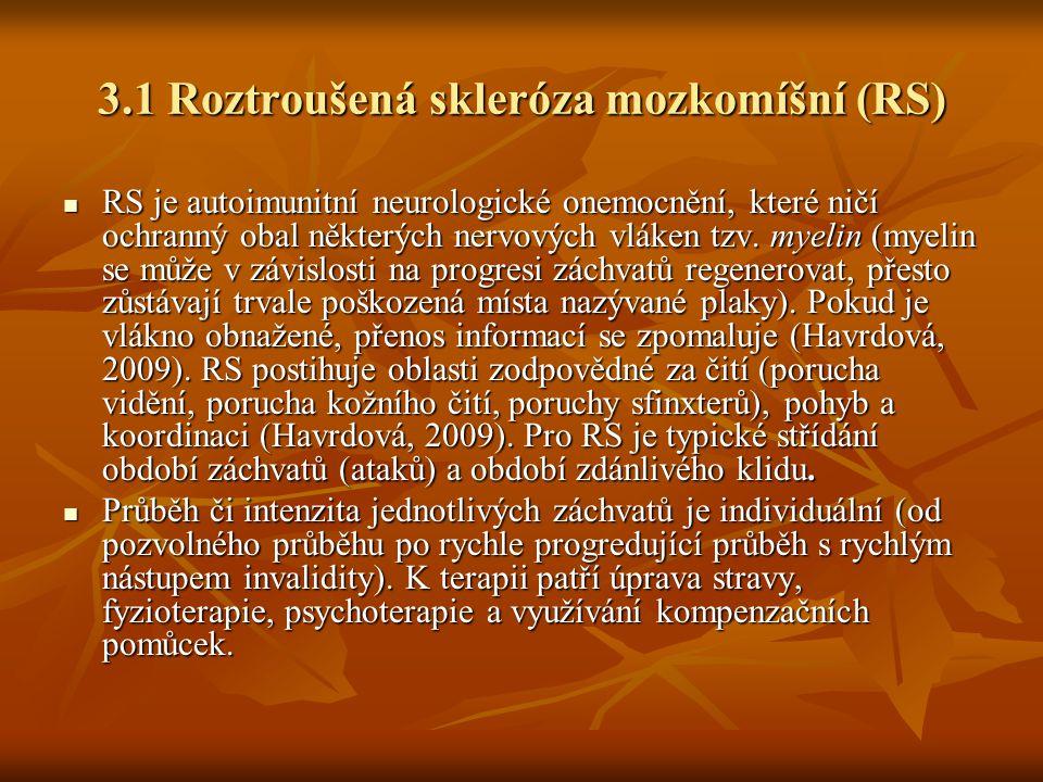 3.1 Roztroušená skleróza mozkomíšní (RS)