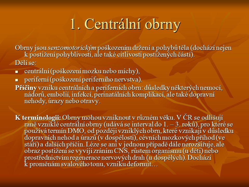 1. Centrální obrny