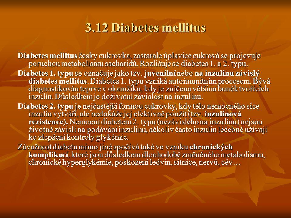 3.12 Diabetes mellitus